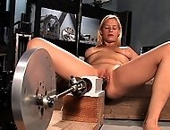 Amateur blond never done porn fucks machines in her ass and pussy cums like made while screaming in pleasure.