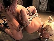 Hot Naked slave girl trained to serve sadistic masters