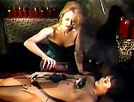 Burning hot wax from her mistress turns this slave into a colorful work of painful art