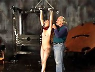 Slim slave gets her body ravaged by her master when she`s tied up and smacked all over