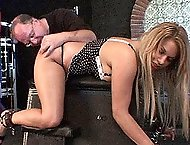Sexy Jenna Taylor loves being bound and mouthfucked