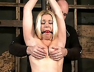 Blonde in extreme bondage!