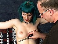 First time Lilly gets bound and stripped and forced to cum