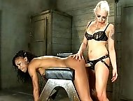 Marie Luv is sexually dominated and fucked with electricity by hot lesbian doms Isis Love and Lorelei Lee