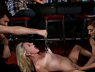 Hot Blonde Disgraced in Bar