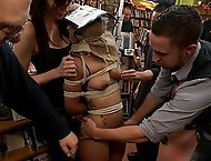 Adorable 19 year old is Bound and Ass Fucked in Public