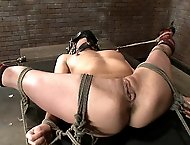 Hot blonde bondage!